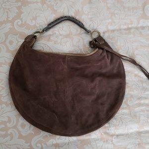 Vintage Gap Suede Leather Hobo Bucket Bag